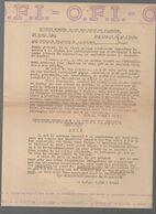 (documents 39-45) O.F.I (service Hebdomadaire Des Journaux Français) Du 25 Avril 1944  (CAT 1956) - Documentos Históricos