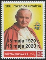 POLAND 2020. 100th Birthday Anniversary Pope John Paul II. Personalized Stamps. - Papes