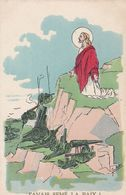"""MILITARIA.GUERRE 1914-18.ILLUSTRATION SATIRIQUE.JEAN METTEIX. GUERRE ET RELIGION . """"J'AVAIS SEME LA PAIX ! """". ANNEE 1917 - Guerre 1914-18"""