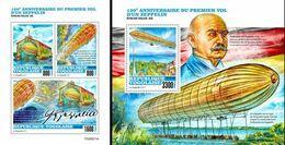 Togo 2020, Zeppelin, 4val In BF+BF - Zeppelins