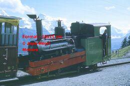 Reproduction D'unePhotographie D'une Locomotive BOB à Crémaillère SPB Schynige Platte-Bahn En Suisse En 1972 - Riproduzioni