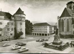 VW Käfer Ovali,Karmann Ghia,Opel Olympia Rekord,Kapitän,Olympia,Skoda,Lloyd,Stuttgart,Schillerplatz, Gelaufen - PKW