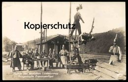 ALTE POSTKARTE HUMOR DES DEUTSCHEN LANDSTURMES FRANZOSENFIGUR Soldats Francais French Soldiers Soldat Landsturm Cpa AK - Guerre 1914-18
