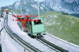 Reproduction D'unePhotographie D'une Locomotive Vapeur BOB à Crémaillère SPB Schynige Platte-Bahn En Suisse En 1972 - Riproduzioni
