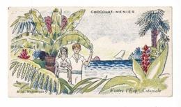 Image Illustrée PFG 6 X 11 Cm - Chocolat Menier - Visitez L'Expo Coloniale Paris 1931 - Martinique (couple Au Bord Mer) - Other
