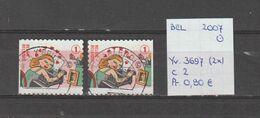 België 2007 - Yv. 3697 (2x) - OCB 3716/a Gest./obl./used - Belgium