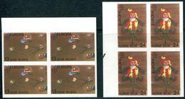 13189426 BE 19890506; Europa, Jeux D'enfants, Jeu De Billes, Pantin; Bl4 ND Cob2323-24 N°345à348 - Belgium