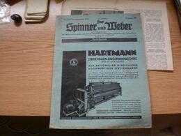 Der Spinner Und Weber Textil Betriebt Hartmann Streichgarn Ringspinnmaschine Chemnitz 1939 - Cataloghi