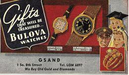 Montres Bulova 1950 Etats-Unis Entier Postal Illustre Voir 2 Scan - Clocks