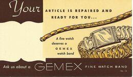 Montres Gemex 1950 Etats-Unis Entier Postal Illustre Voir 2 Scan - Clocks