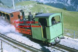 Reproduction D'unePhotographie D'une Locomotive Vapeur BOB à Crémaillère SPB Schynige Platte-Bahn Suisse 1972 - Riproduzioni