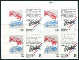 13189441 BE 19890610; Déclaration Droits De L'homme; Bl4 ND Cob2327 N°337à340 - Belgium