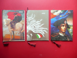 Tre Calendari Arma Dei Carabinieri 1991-1992-1993 Militaria Ottimi - Calendars