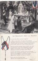 """MILITARIA.GUERRE 1914-18. GUERRE ET RELIGION . """" LE CHAPELET POUR LA FRANCE """". + TEXTE.  ANNEE 1917 - Guerre 1914-18"""