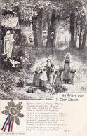 """MILITARIA.GUERRE 1914-18. GUERRE ET RELIGION . """" LA PRIERE POUR LE CHER ABSENT """". + TEXTE.  ANNEE 1917 - Guerre 1914-18"""