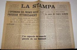 LA STAMPA   DOMENICA 17 AGOSTO 1941 L'OFFENSIVA SUL FRONTE RUSSO - Autres