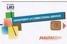MALTA - Maltacom Telecard Lm 3(for Use Only In Prison), Used - Malta