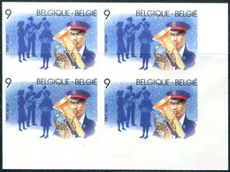 13189486 BE 19891118; Noël, Armée Du Salut, Musique; Bl4 ND Cob2345 N°357à360 - Belgium