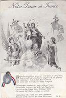"""MILITARIA.GUERRE 1914-18. GUERRE ET RELIGION . """" NOTRE DAME DE FRANCE """". + TEXTE.  ANNEE 1917 - Guerre 1914-18"""