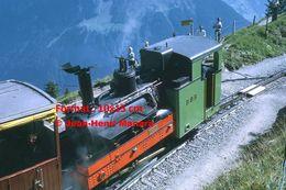 Reproduction Photographie D'une Vue D'une Locomotive Vapeur BOB à Crémaillère SPB Schynige Platte-Bahn Suisse 1972 - Riproduzioni