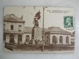 FERROVIAIRE - Gare - REMIREMONT - Le Monument De La Gare (animée) - Gares - Sans Trains