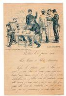 VP17.266 - MILITARIA - 1903 - Lettre Illustrée ¨ A LA CANTINE ¨ - Mr Auguste VALENCIEN Soldat à VENDOME - Documenti