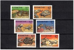 Kazakhstan 1994 . Reptiles. 6v : 1, 1.2, 2, 3, 5, 7 .   Michel # 51-56 - Kazajstán