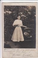 CARTE PHOTO ORIGINALE - Femme Artiste Musicienne Instrument ? - Frauen
