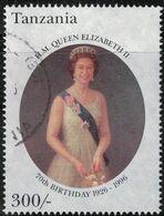 Tanzanie Oblitéré Used Birthday Anniversaire Queen Reine Elizabeth II SU - Tanzania (1964-...)