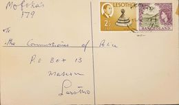 Lesotho 1967 Registered Letter With Mixed Franking - Lesotho (1966-...)