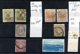 JAPON, Petit Lot De Bons  Timbres, Avec Une Variété,, Cote Supérieure à 125€ - Collections, Lots & Series