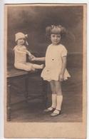 CARTE PHOTO ORIGINALE - Portrait Fillette Avec Poupée - Abbildungen