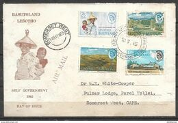 USED AIR MAIL COVER LESOTHO , BASUTOLAND - Lesotho (1966-...)