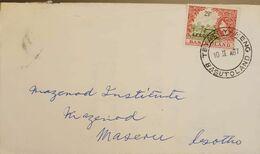 Lesotho 1967 Registered Letter Franked With 2.5p Lesotho Overprint On Basutoland Stamp - Lesotho (1966-...)