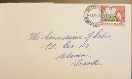 Lesotho 1967 Registered Letter Franked With 2.5c Lesotho Overprint On Basutoland Stamp - Lesotho (1966-...)
