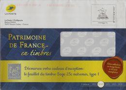 Prêt à Poster De Service De Phil@poste, Timbre Patrimoine De France - Entiers Postaux