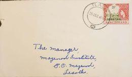 Lesotho 1967 Registered Machine Cancelled  Letter Franked With 2.5c Lesotho Overprint On Basutoland Stamp - Lesotho (1966-...)