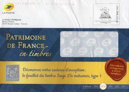 """FR 2020 / PRET A POSTER INTERNATIONAL 250g  """"  Montimbr@moi-PATRIMOINE DE FRANCE-en Timbres  """" / OBLIT Code électronique - Entiers Postaux"""