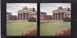 BERLIN. PORTE DE BRANDENBURG. CHROMOPLAST-BILD SERIE 7 Nº 55. PHOTO STEREOSCOPIE.  -LILHU - Photos Stéréoscopiques