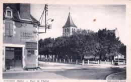 36 - Indre - DOUADIC - La Place Et L Eglise - Other Municipalities