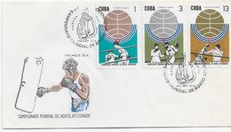 3536  FDC Habana  1974, Campeonato Mundial De Boxeo Aficionado - Pugilato