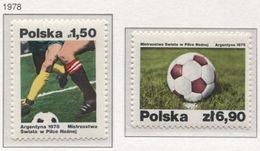 Poland 1978 Mi 2560-61 World Championships In Football - Argentina, Sport, Players **MNH - Altri
