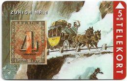 Denmark - TS - Rare Stamps - Zurich No.1 - TDTP041 - 03.94, 3.000ex, Used - Denmark