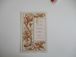 1899 Chapelle Des Ursulines  Holly Card Image Pieuse - Images Religieuses