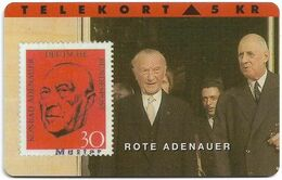 Denmark - TS - Rare Stamps - Rote Adenauer - TDTP026 - 12.93, 8.000ex, Used - Denmark