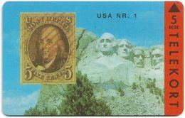 Denmark - TS - Rare Stamps - U.S.A. No.1 - TDTP023 - 11.93, 3.000ex, Used - Denmark