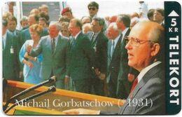 Denmark - TS - Famous Personalities - Michail Gorbatschow - TDTP013 - 09.93, 2.500ex, Used - Denmark