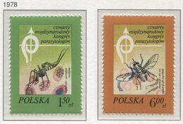 Poland 1978 Mi 2570-71 IV Polish Parasitological Society Congress, Parasites, Insects **MNH - Insectes