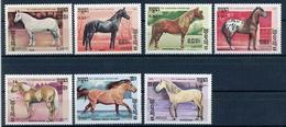 Kambodscha MiNr. 730-36 Postfrisch MNH Pferde (O209 - Kampuchea