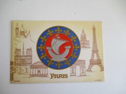 Paris Illustrateur Louis Souvenir Armoiries - Altri